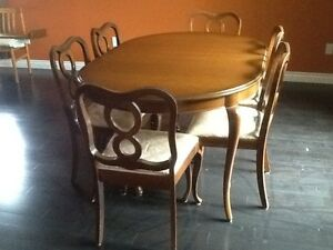 FRENCH PROVINCIAL TABLE & 6 CHAIRS DINING SET