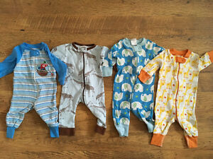 Cotton onepieces - 3-6 months