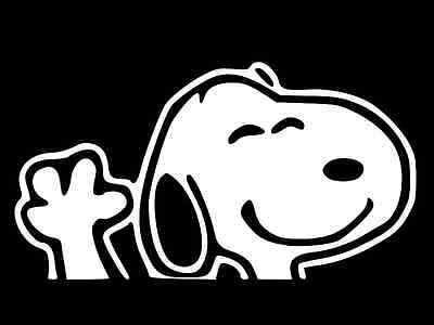 SNOOPY Charlie Brown Vinyl Decal Car Window Wall Sticker CHOOSE SIZE COLOR
