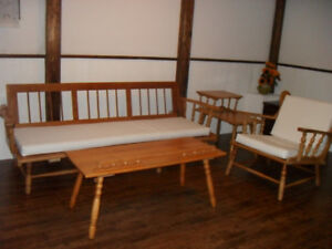 Solid wood Antique sofa, arm chair, tables set