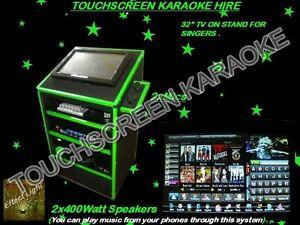 Mega-Soundz Karaoke Jukebox Hire 2 Speakers + 2  Free Lights. Viveash Swan Area Preview