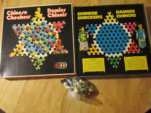 CHINESE CHECKERS Vintage Canada Board Game Company Glass Marbles