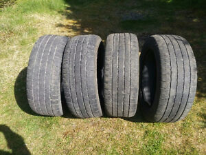 "4 used 20"" tires for sale, 275/55/20"""
