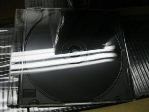 200 - CD Jewel Cases Slim Black, New In Box