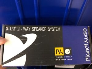 "Planet Audio 3-1/2"" 2 Way car audio speakers"