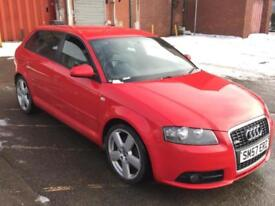 """AUDI A3 2.0 DIESEL QUATTRO S LINE 170 BHP 4X4,HPI CLEAR,LEATHER SEATS,18"""" ALLOYS"""