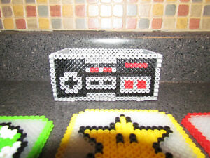 Handmade Nintendo Character Coasters with NES Controller Holder Cambridge Kitchener Area image 4