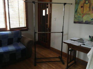 Clothes hanging rod - pants and shirts - free standing