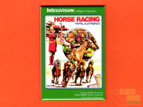 "Mattel Intellivision Horse Racing box art 2x3"" fridge magnet"