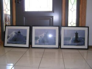 LIGHTHOUSE OCEAN PICTURES - SET OF 3