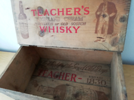 1920s Vintage Advertising Box for Teachers Whisky
