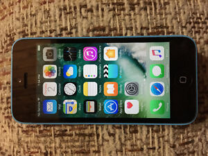 Blue iPhone 5c - 16gb  $200 obo