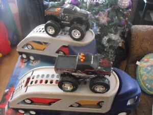 *Large toy truck lot*