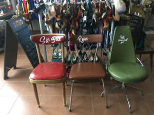Set of 3 vintage/antique custom chairs