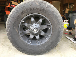 """35"""" Toyo Open Country A/T on Fuel rims"""
