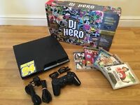 320gb SLIM PS3 CONSOLE with DJ HERO & 6 GAMES £60 no offers