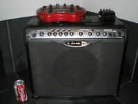 LINE 6 SPIDER 2 AMP-LINE 6 POD XT AND PEDAL