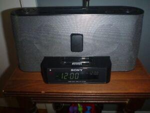 SONY DUAL ALARM -- AM/FM CLOCK RADIO