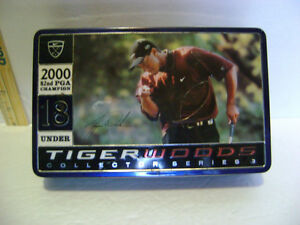 TIGER WOODS NIKE COLLECTOR SERIES TIN with 12 Nike GOLF BALLS
