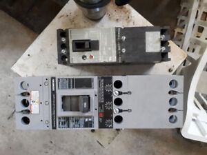 Siemens 600 volt motor rated breakers, 100, 150, and 400 amps