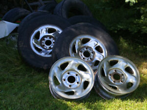 FORD 16 INCH TIRES AND RIMS