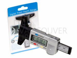 Digital LCD Tire Tread Depth Gauge 0-25.4mm Metric Imperial