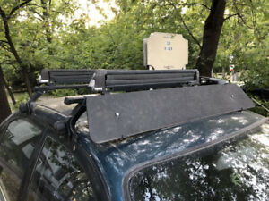 THULE ROOF RACK WITH BIKE AND SKI ATTACHMENTS QUICK SALE