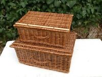 Wicker Storage/Picknic Baskets x 2