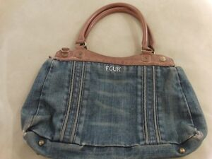 Vintage Womens Jean French Connection FCUK Bag / Purse
