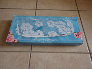 Brand new in box crystal glass serving tray