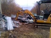 Work for a mini excavator