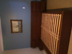 "Queen size ikea ""MALM"" bed frame with night tables"