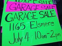 GARAGE SALE - July 4 2015