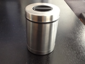 Oggi stainless steel airtight coffee canister w/ filter holder