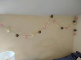 20 Cotton Balls String Lights