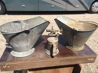 """Old"" Coal buckets and an old sawder?"