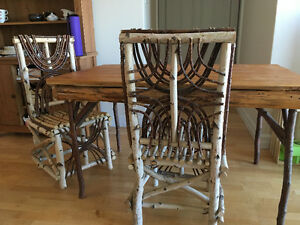 Unique table and chair set for sale