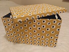 2 x Cardboard decorated storage boxes