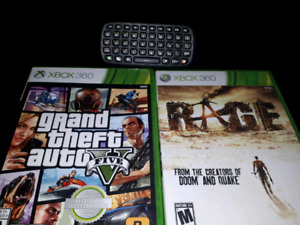 XBOX 360 Chatpad and 2 games. All for $20