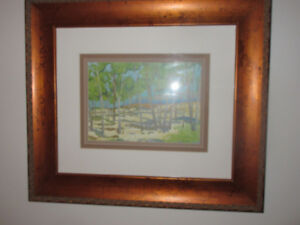 """Beautiful Large Print of Trees 24.5 x 21.5""""   Heavy Frame"""