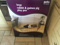Indoor rabbit cage and playpen