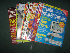 11 Issues of Popular Home Automation Magazine 1997/98 - USED