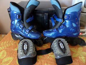 In Line Skates and Knee Pads