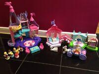 Girls Toy bundle Fisher Price Disney princess little people castle excellent condition