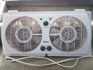 Holmes Reversible Twin Window Fan with Thermostat