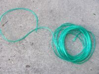 Fifty feet of 1/8 inch green vinyl tubing/hose for irrigation...