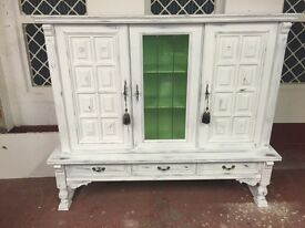Shabby chic French style cabinet display