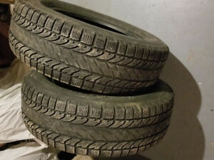 "2 spare bf Goodrich winter slalom ksi tires  225/65/17"" $40"
