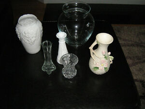 4 assorted vases $8.00