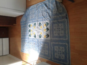 Cancer blue yellow daffodils quilt